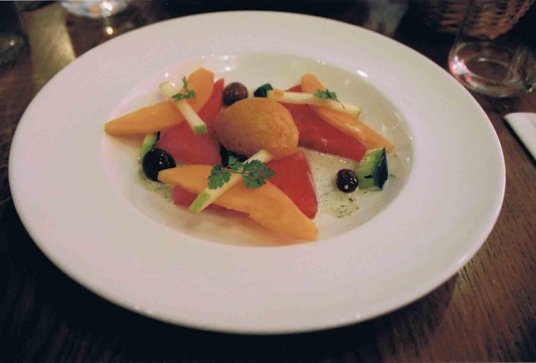 1 Tomatensorbet Melonensalat franzoesiche Küche