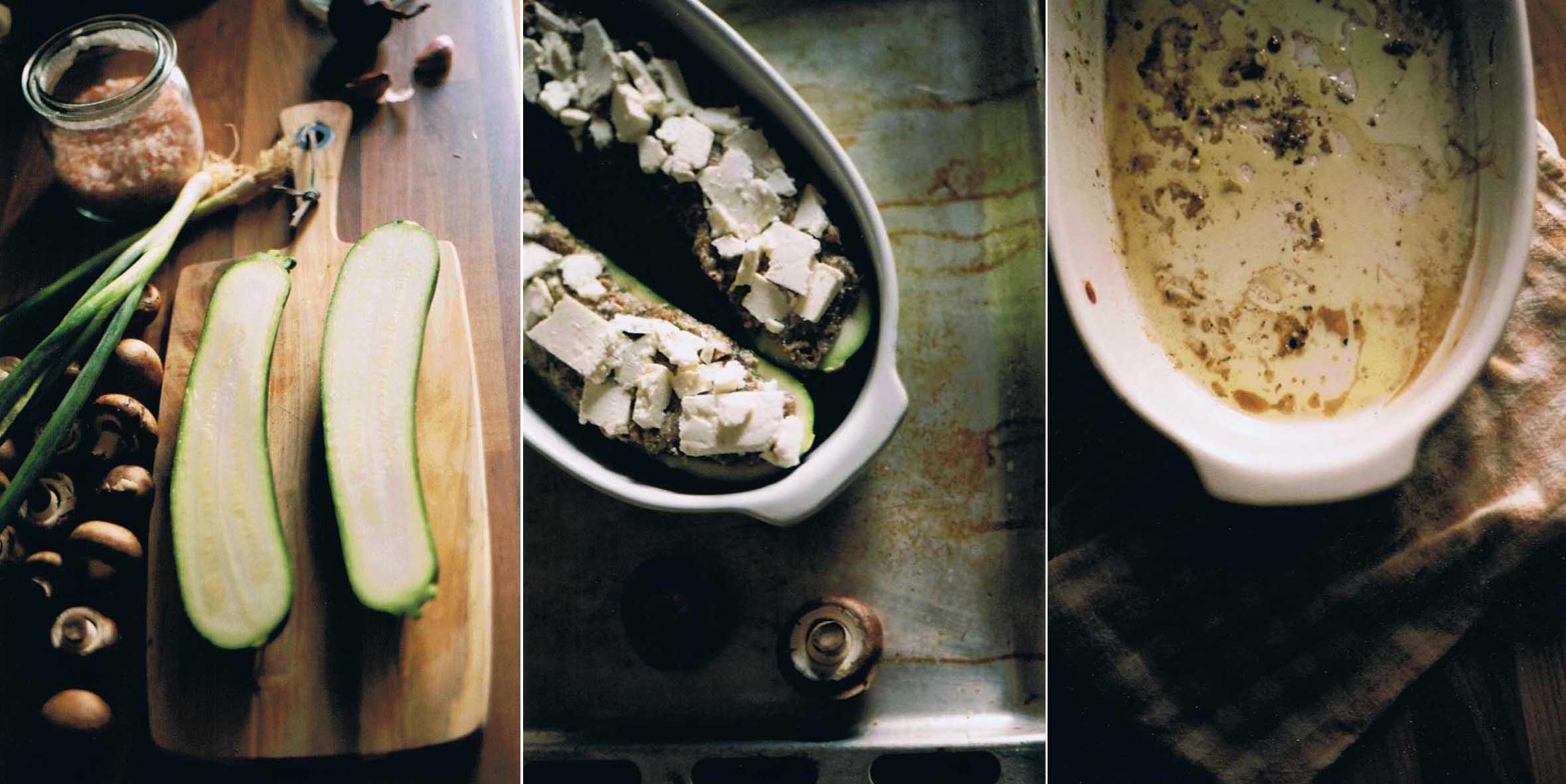 Gefüllte Zucchini Food film photography