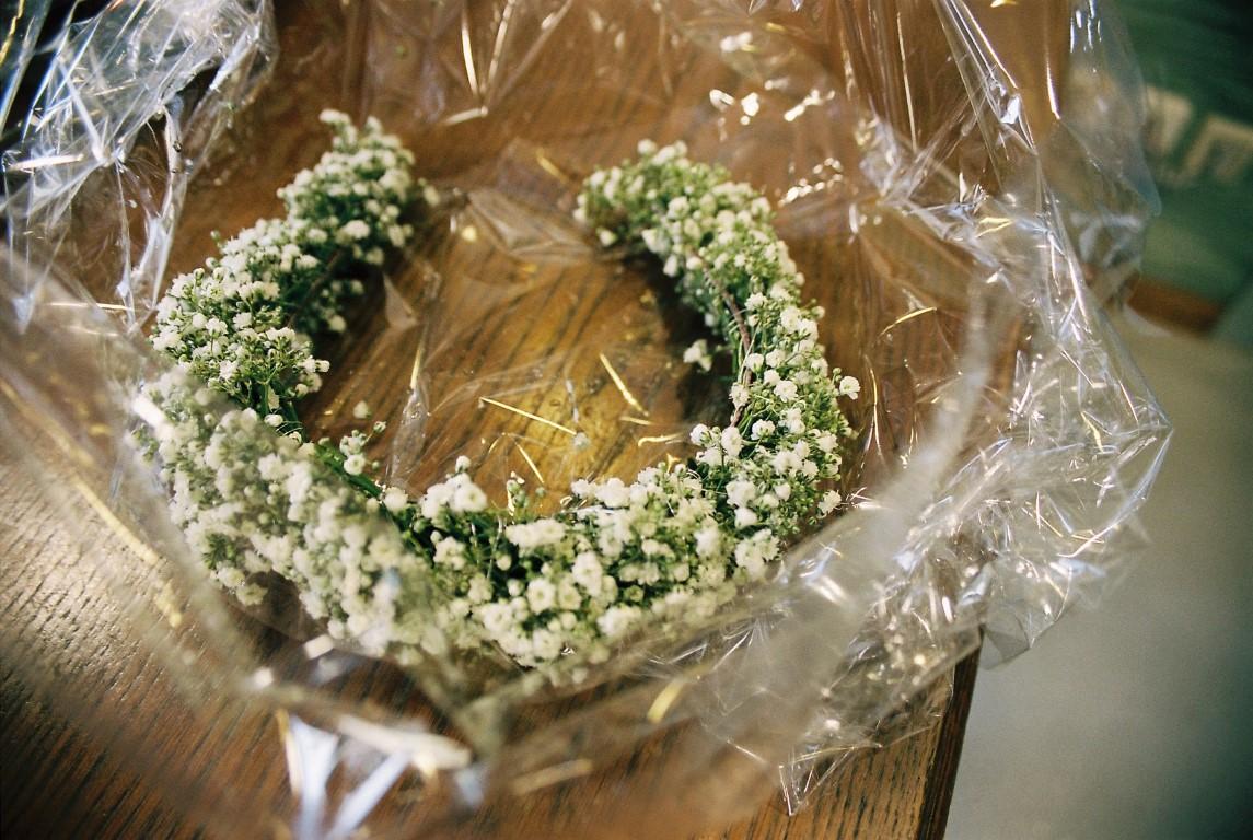 Blumenkranz Hochzeit Schleierkraut