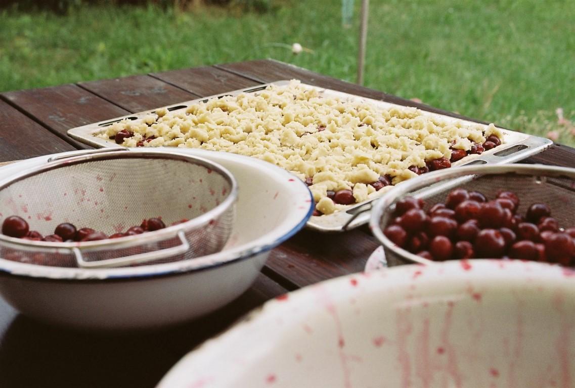 Kirschstreuselkuchen Blechkuchen Sauerkirschen (Medium)