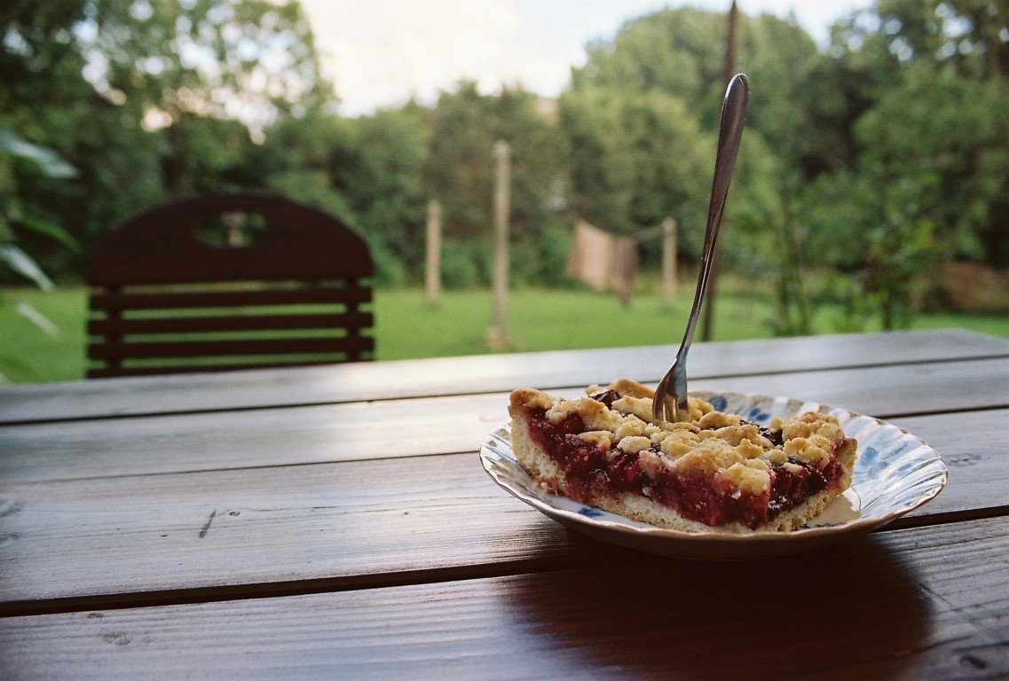 Sauerkirschkuchen Blechkuchen Rezept (Medium)