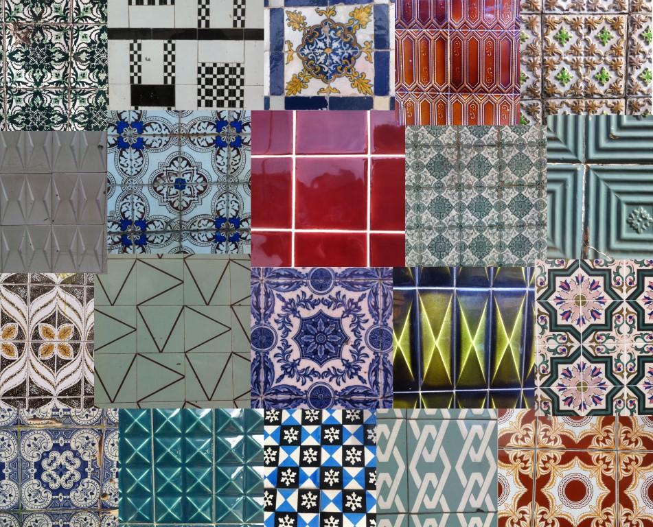 azulejos collage portugisische keramikfliesen