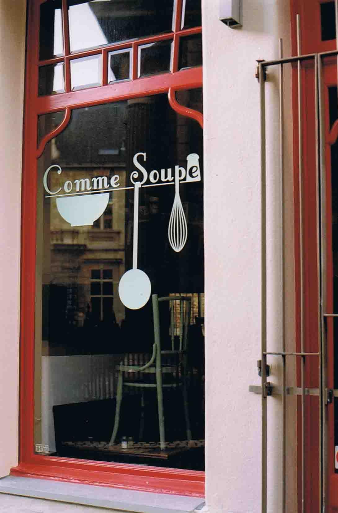 Belgien Antwerpen Restorant Comme Soupe