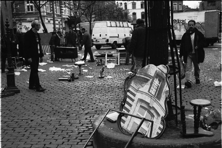 Brussel marollen agfa apx 100 Flohmarkt Place du Jeu de Balle