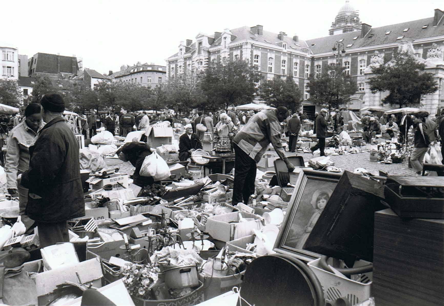 Brussel Marollen Flohmarkt Place du Jeu de Balle II