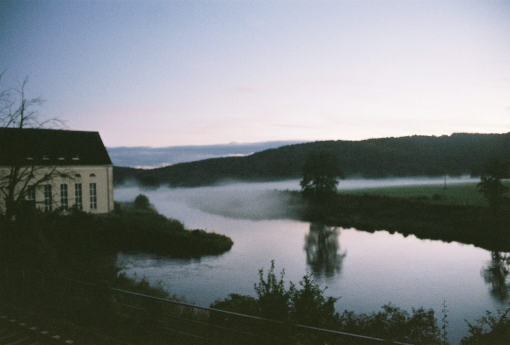 Freiberger Mulde im Nebel